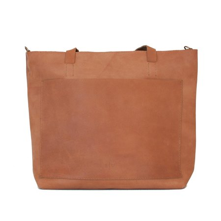 Equal Uprise Leather Tote - Honey