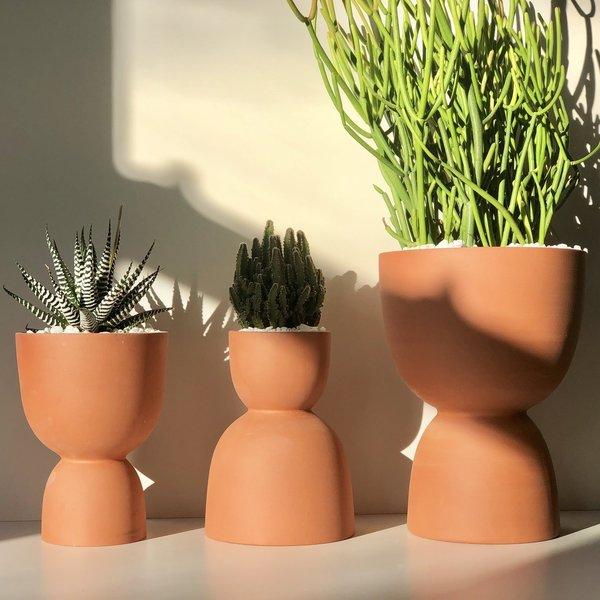 Franca Terracotta Stacked Planter