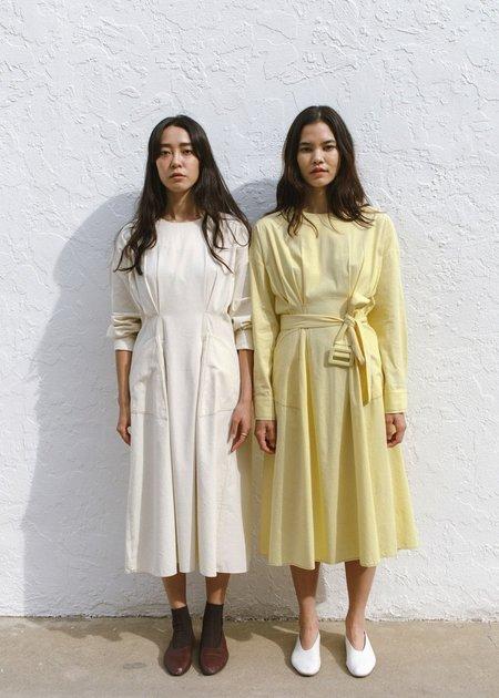 JOWA. Margine Stitch Dress with Matching Belt