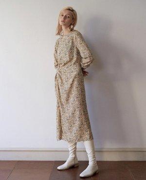 JOWA. Repeller Tie Front Pattern Dress