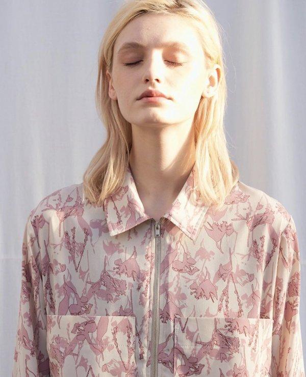 JOWA. Zip Front Shirts Dress