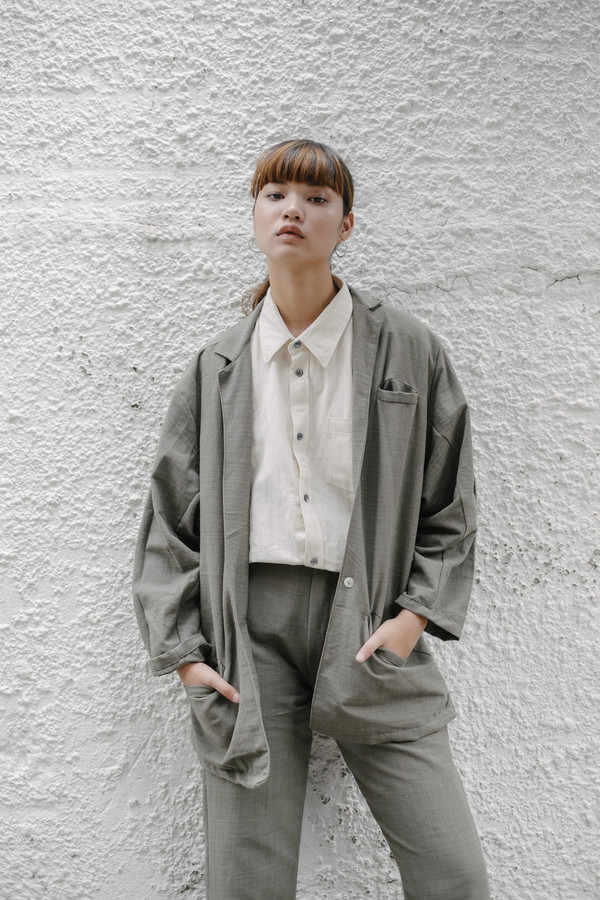 Seeker Studios Essential Oversized Blazer - Grey