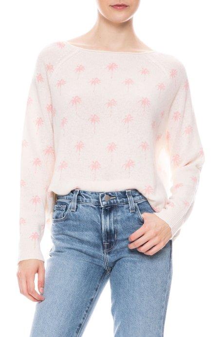 360 Cashmere Zane Palm Tree Sweater