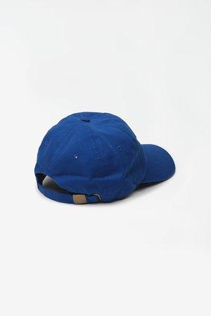 Sporty & Rich Science logo hat - sport blue/white stitch