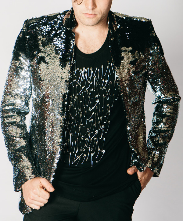 5165b747 Any Old Iron Sequin Jacket - Black/Silver | Garmentory