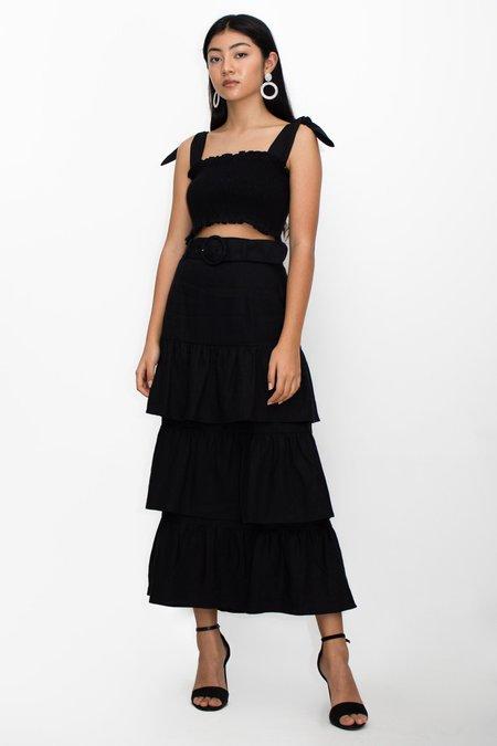 Capulet Paula Belted Midi Skirt - Black