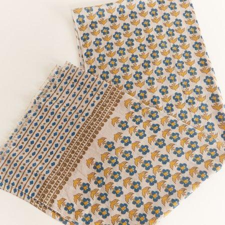 Hartford Flower Print Cotton Scarf - white