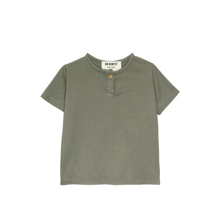 kids Go Gently Nation Jersey Henley - Thyme