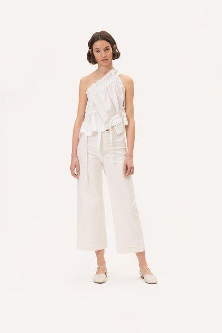 Dora Denim Pants White