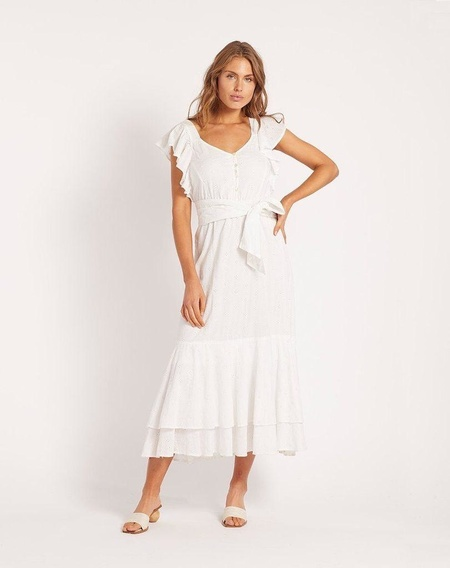 Cleobella KARINA MIDI DRESS - white