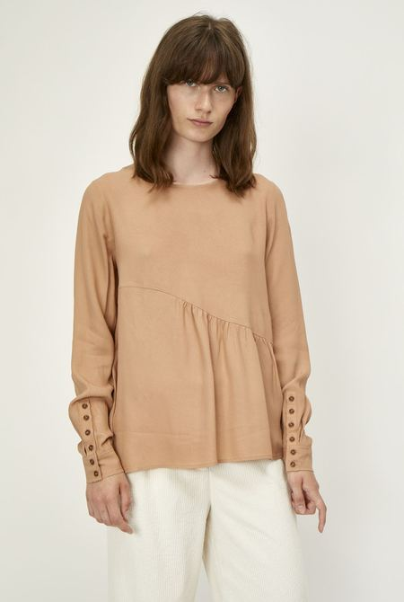 Just Female Tienna Blouse - Latte