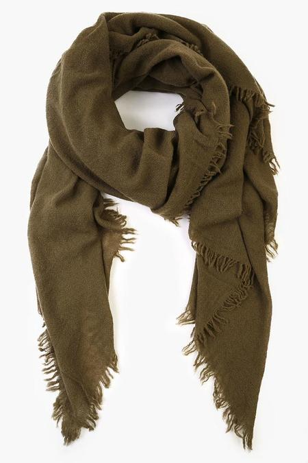Chan Luu Cashmere and Silk Scarf - Olive