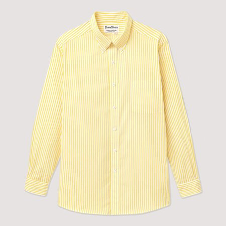 Rowing Blazers Candy Stripe Button Down - Yellow