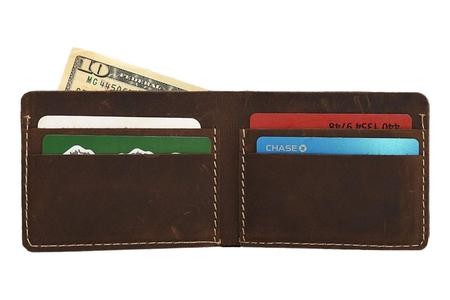 Kiko Leather Straight Cut Bifold - Brown