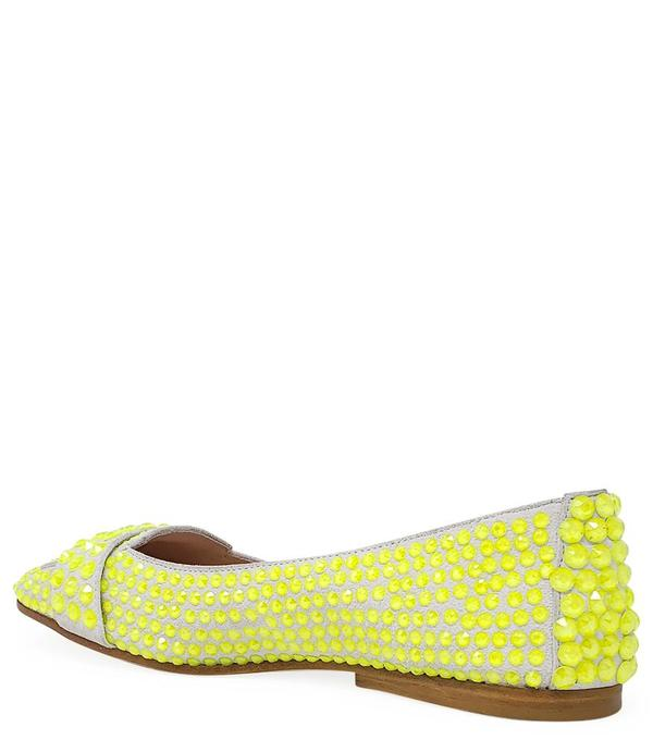 Madison Maison By Eddy D Ballet Flat - Neon Yellow