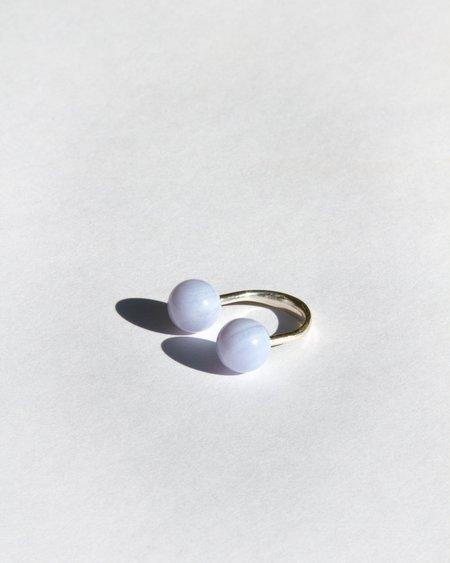 Saskia Diez Chalcedony Sling Ring - Sterling Silver