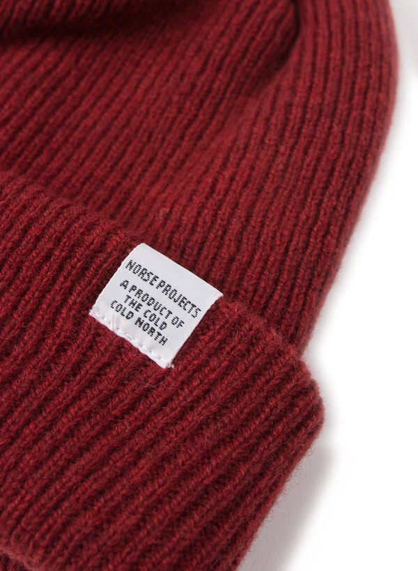 ea540ef83c8 Norse Projects Norse Beanie Red Clay. sold out. Norse Projects