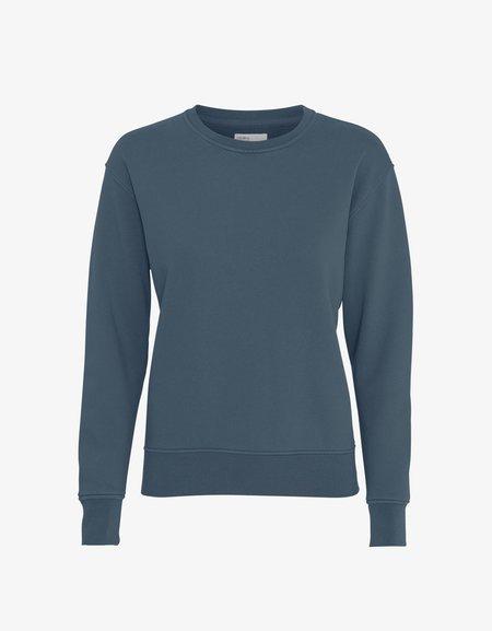 COLORFUL STANDARD COTTON SWEATER - PETROL BLUE