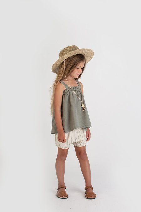 Go Gently Nation Paperbag Top - Thyme