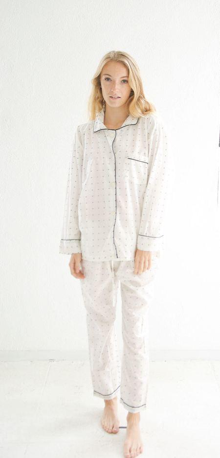 domi organic cotton pajama set in koi dot