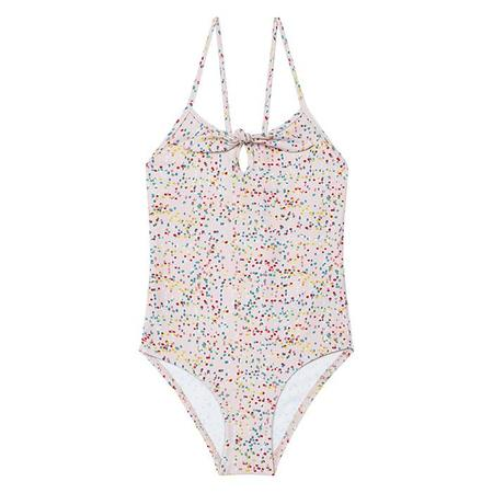 Bonton Child Arabella Swimsuit Pink With Confetti Print