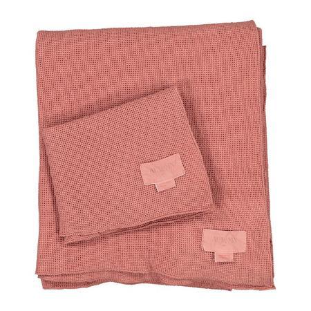 Moumout Paris Autumn Small Honeycomb Towel Kit - Terracotta Brown
