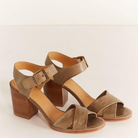 Cotélac Cuban Heeled Sandals - Lichen