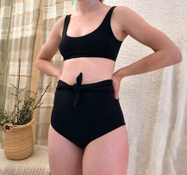 Mara Hoffman Jay Bikini Bottom - Black
