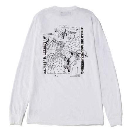 Afield Out Base Camp Long Sleeve T-shirt - White