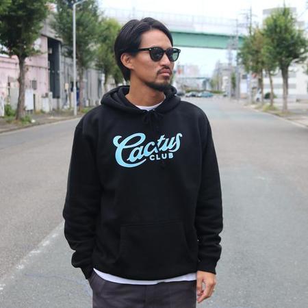 Cactus Club Script Hooded Sweatshirt - black