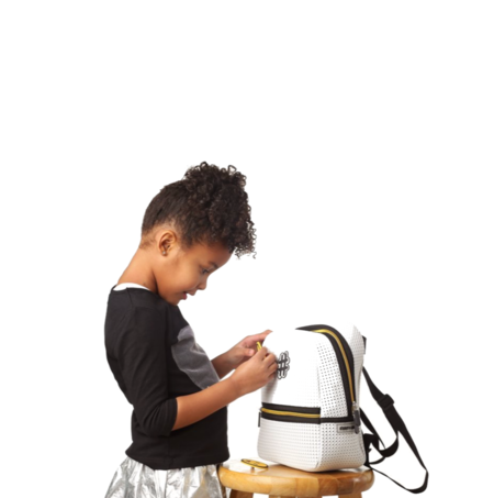 Kids Light and Nine Stark Mini Backpack - White