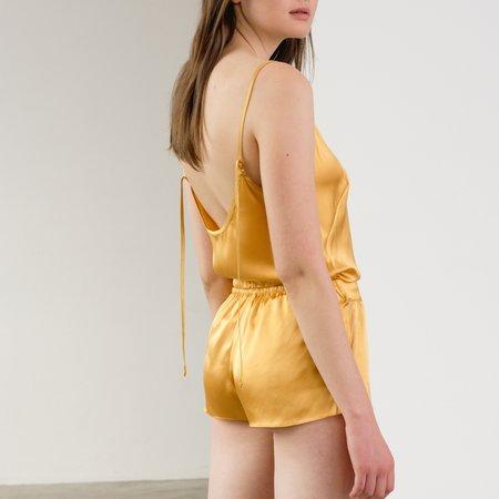 KENT Organic Silk Sleep Shorts - Amber