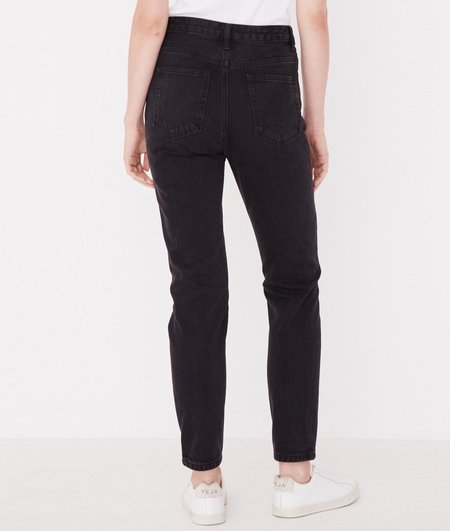 ASSEMBLY LABEL HIGH WAIST RIGID JEAN - WASHED BLACK