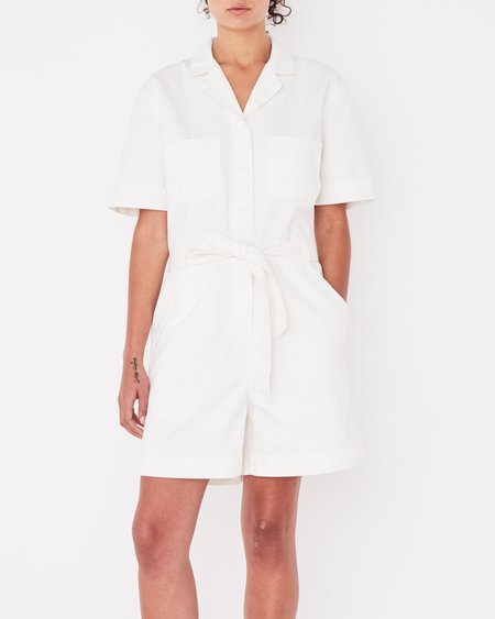 ASSEMBLY LABEL LEVY PLAYSUIT - VINTAGE BLANC