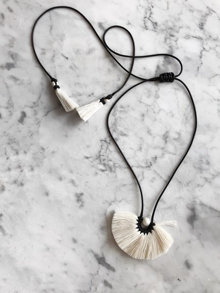 Caralarga Flor Texcoco Collar Necklace - Black