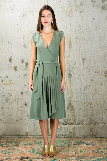 Kristinit Silk Dress - Jade
