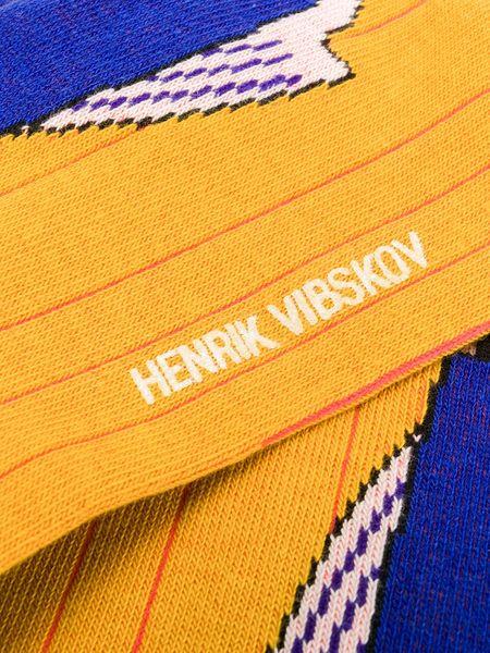 Henrik Vibskov Fish Line Socks - Yellow (2pk)