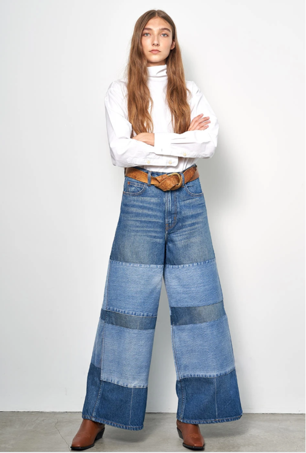 B Sides Claude High Flare Pant - Awning Stripe Patchwork