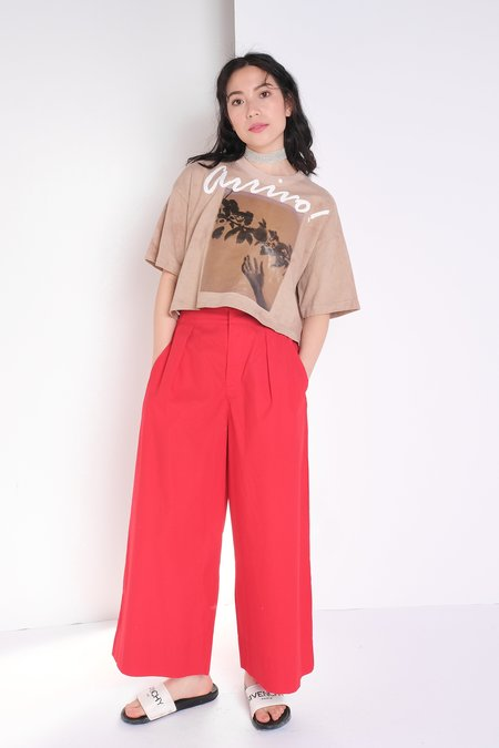 Kowtow Pleat Pant - Red