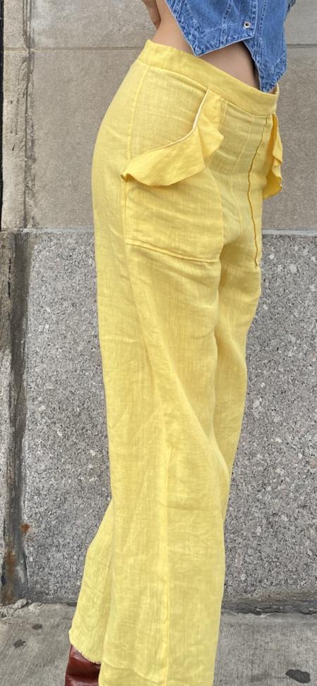 Alix of Bohemia Tulip Ruffled Wide Leg Pants