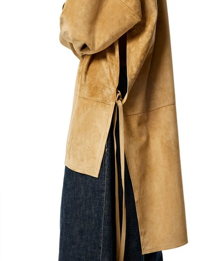 LOEWE Leather Anagram Tunic - Gold Suede