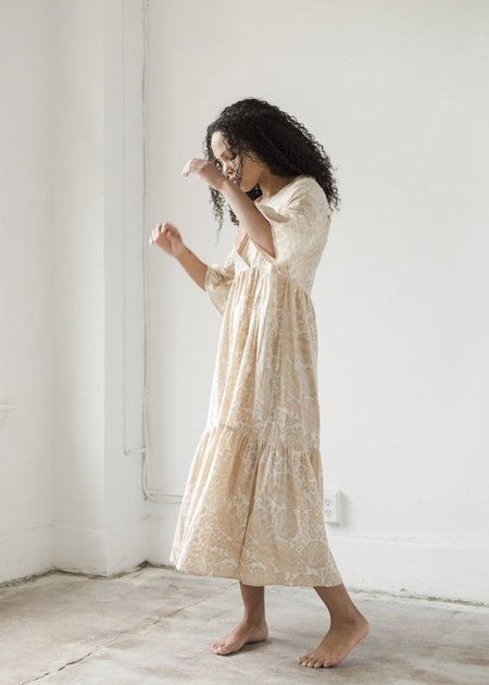 Beaumont Organic Tulsi Dress - Cream Print