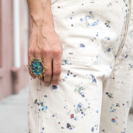 Plutonia Blue Psychedelic Northstar Ring