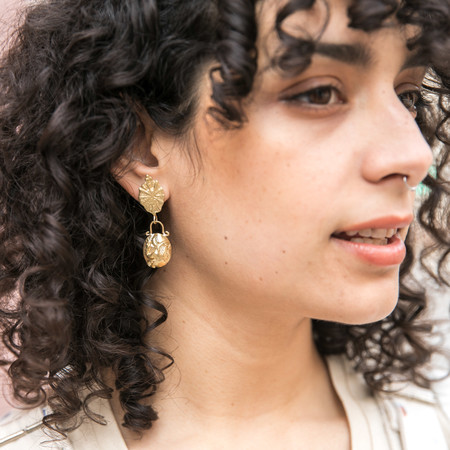 Plutonia Blue Beirut Drop Earrings