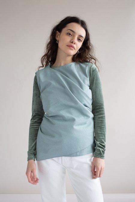 VINTAGE Baserange Dahl Raw Silk Top