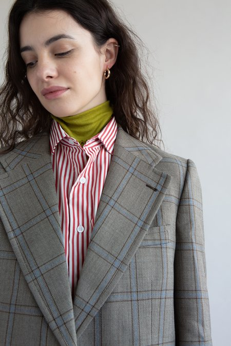 Vintage Mens Single Breasted Check Suit