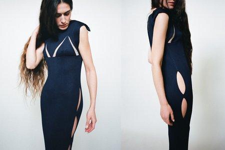 Bevza Samya Knitted Dress - Dark Ink Navy