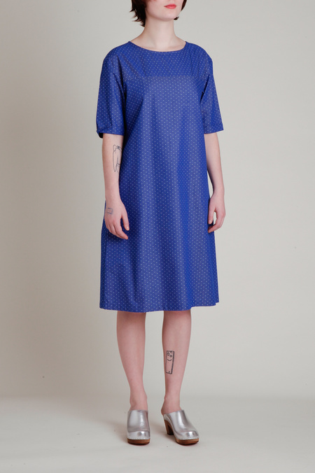 A.Cheng A Line Shift Dress - Blue/White