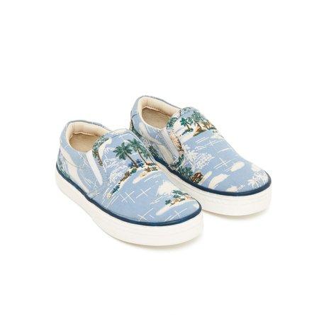 kids bonton hawaii slip on sneaker - blue