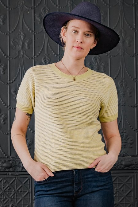 Brookes Boswell Savoy Straw Hat in Navy